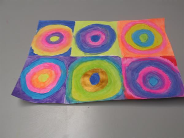 Art in Ms. Glancy's 6th class